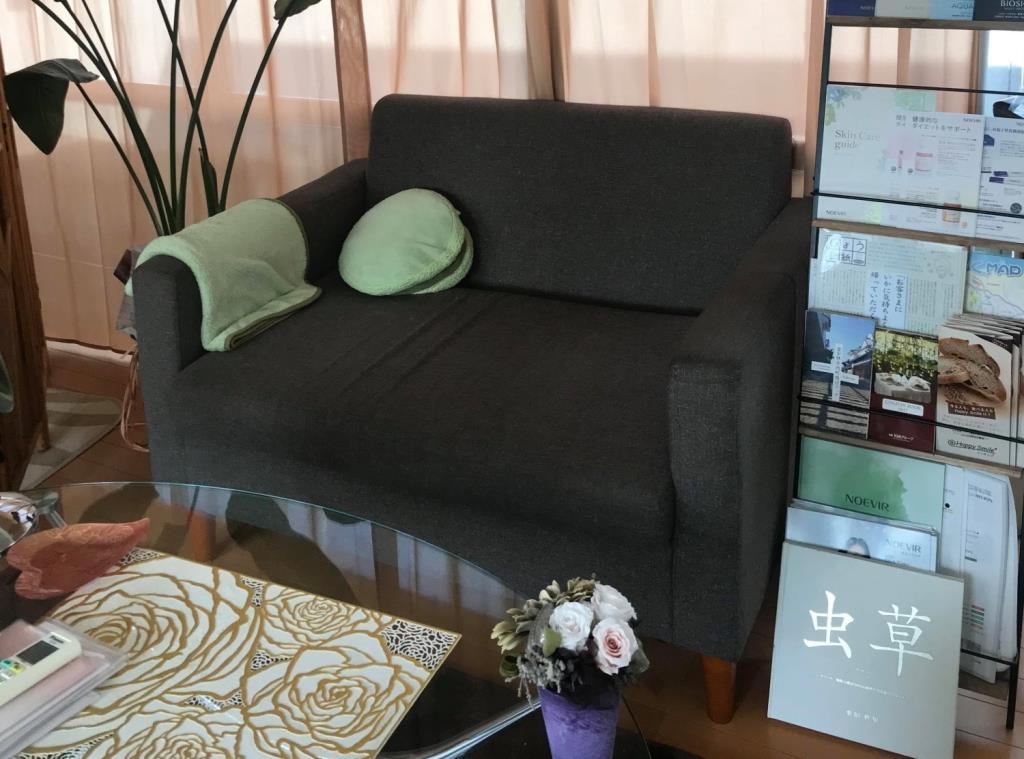 エステサロン・プラネットのソファ