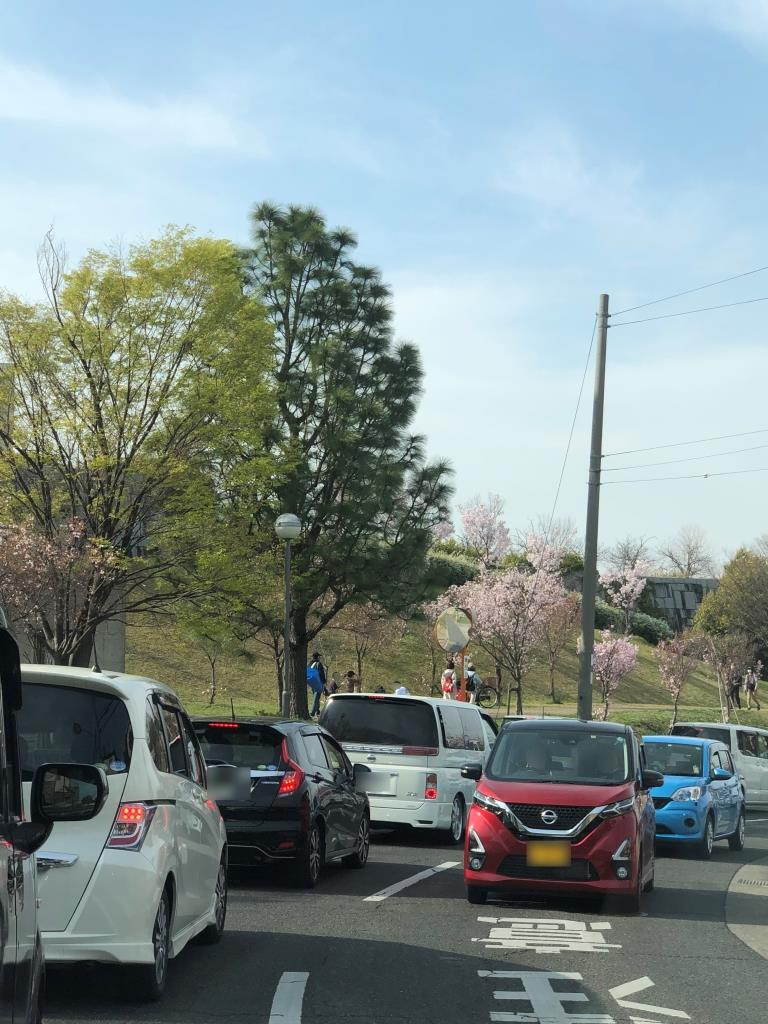2021年03月27日(土)の狭山池周辺の渋滞