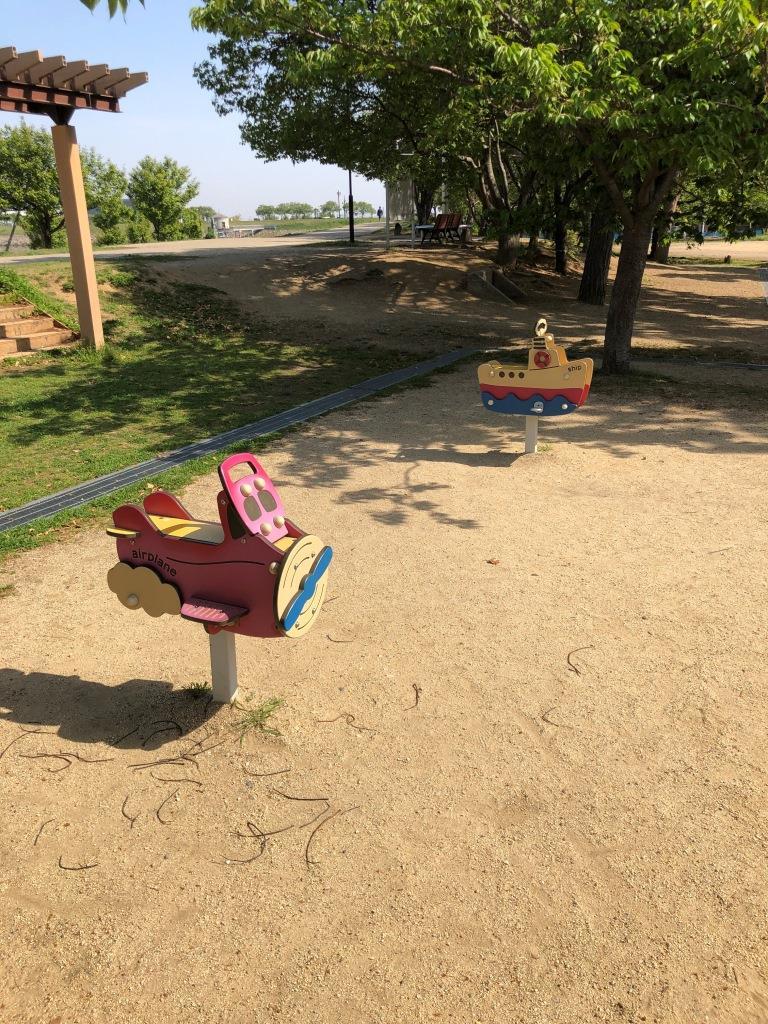 さやか公園のスプリング遊具