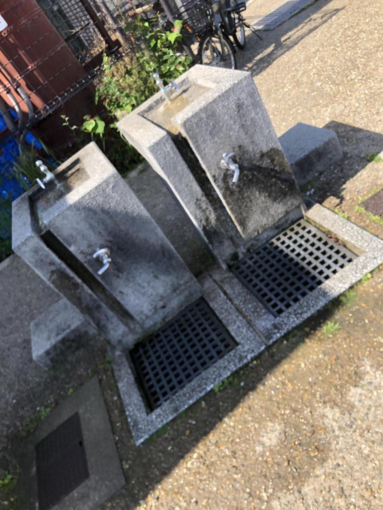 北堤駐車場の水飲み場